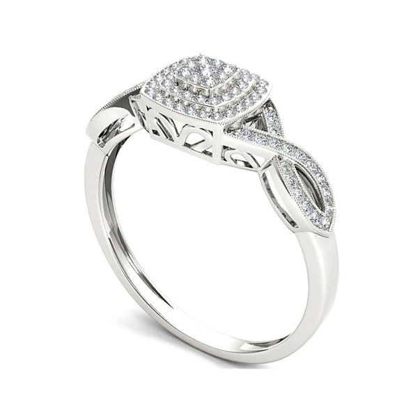 1/4 CT. T.W. Diamond 10K White Gold Engagement Ring
