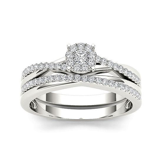 1/4 CT. T.W. Diamond 10K White Gold Engagement Ring