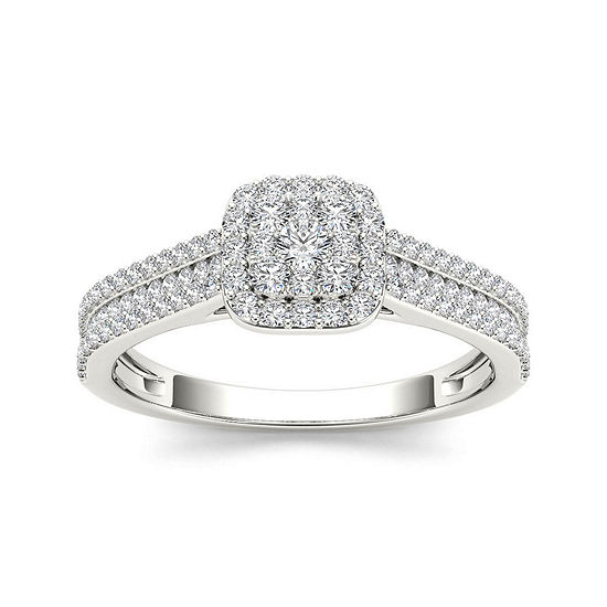 Ct Tw 10k White Gold Engagement Ring