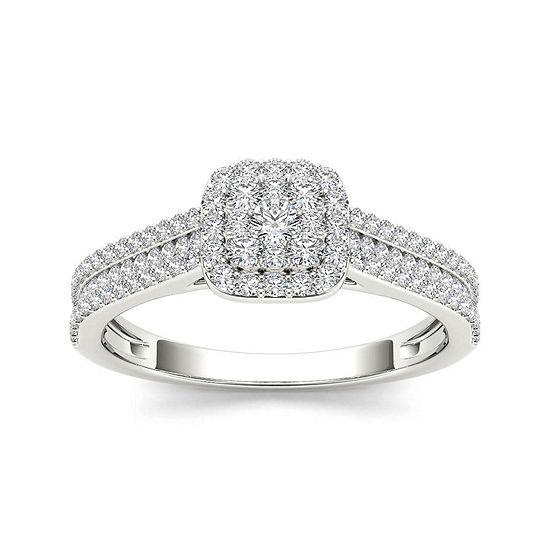 Ct Tw 10k White Gold Engagement Ring