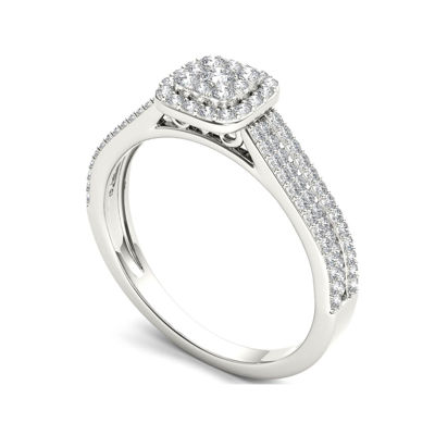 ½ CT. T.W. 10K White Gold Engagement Ring