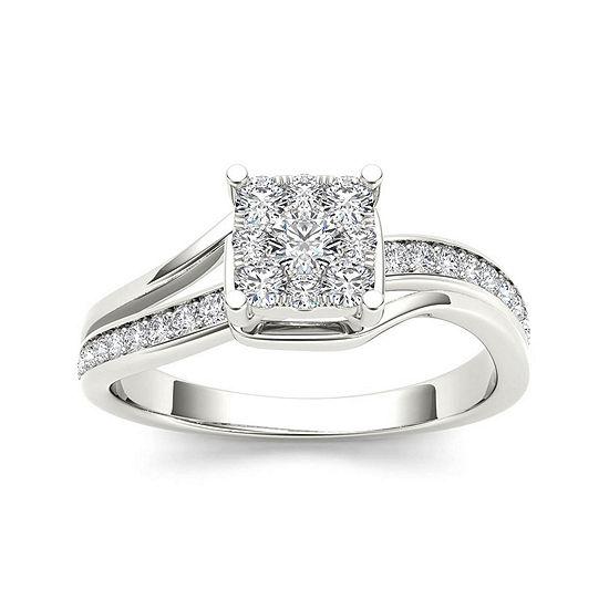 1/2 CT. T.W. Diamond 10K White Gold Engagement Ring