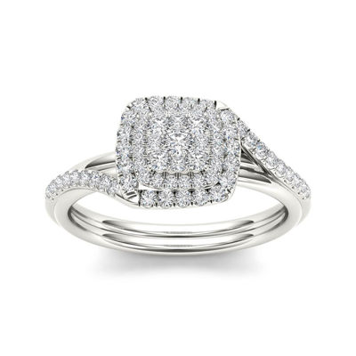 1/2 CT. T.W. Diamond 10K White Gold Engagement Ring