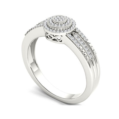 1/5 CT. T.W. Diamond 10K White Gold Engagement Ring