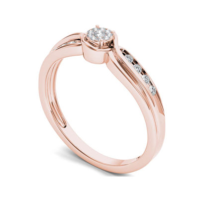 1/10 CT. T.W. Diamond 10K Rose Gold Engagement Ring