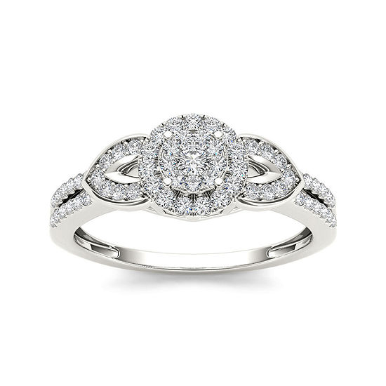 3/8 CT. T.W. Diamond 10K White Gold Engagement Ring