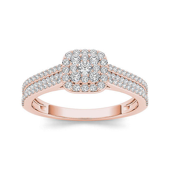 12 Ct Tw Diamond 10k Rose Gold Engagement Ring