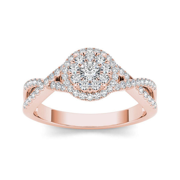 Ordinaire T.W. Diamond 10K Rose Gold Engagement Ring