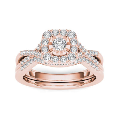 3/8 CT. T.W. Diamond 10K Rose Gold Engagement Ring
