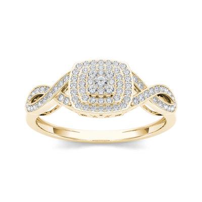 1/4 CT. T.W. Diamond 10K Yellow Gold Engagement Ring
