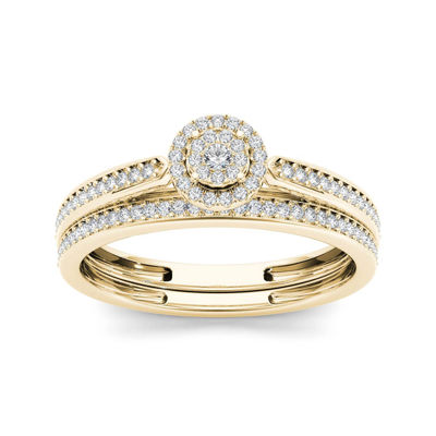 1/4 CT. T.W. Diamond 10K Yellow Gold Bridal Ring Set