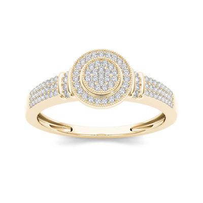 1/3 CT. T.W. Diamond 10K Yellow Gold Engagement Ring