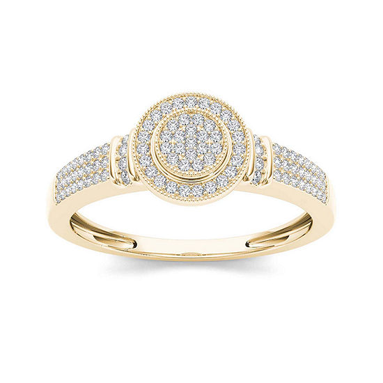 1/3 CT. T.W. Diamond 10K Yellow Gold Engagement Ring