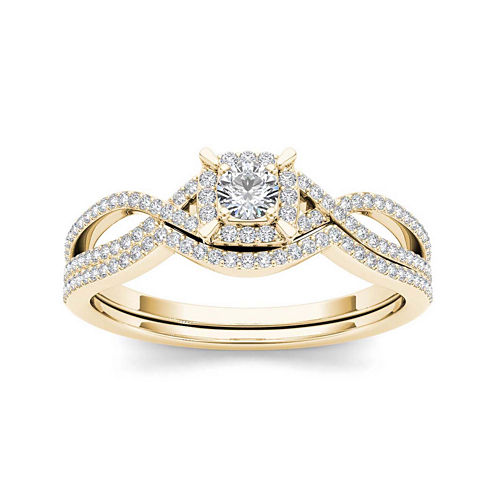 1/3 CT. T.W. Diamond 14K Yellow Gold Engagement Ring
