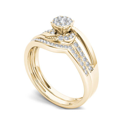 1/3 CT. T.W. Diamond 10K Yellow Gold Bridal Set