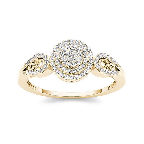1/5 CT. T.W. Diamond 10K Yellow Gold Infinity Engagement Ring