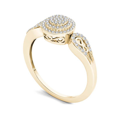 1/5 CT. T.W. Diamond 10K Yellow Gold Infinity Engagement Ring