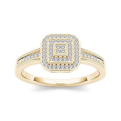 1/6 CT. T.W. Diamond 10K Yellow Gold Engagement Ring