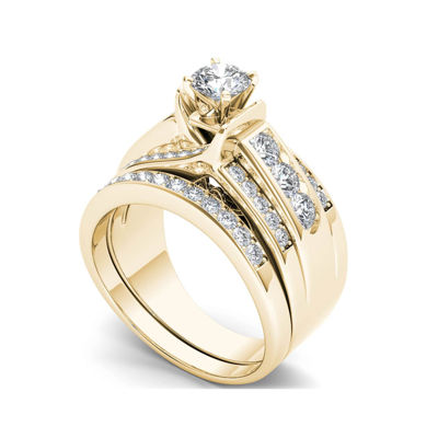 1 1/4 CT. T.W. Diamond 14K Yellow Gold Bridal Ring Set