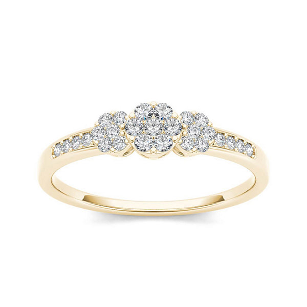 1/5 CT. T.W. Diamond 10K Yellow Gold Engagement Ring