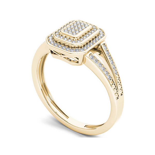 1/4 CT. T.W. Diamond 10K Yellow Gold Engagement Ring