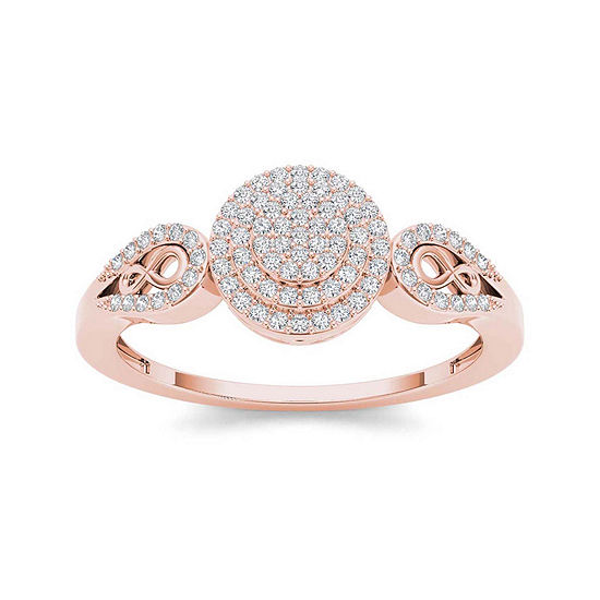 1 5 Ct T W Diamond 10k Rose Gold Infinity Engagement Ring Color