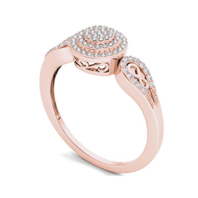 1/5 CT. T.W. Diamond 10K Rose Gold Infinity Engagement Ring