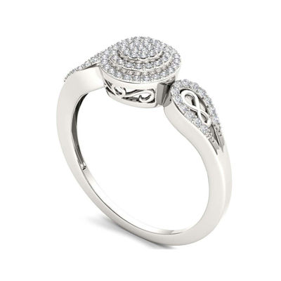 1/5 CT. T.W. Diamond 10K White Gold Infinity Engagement Ring