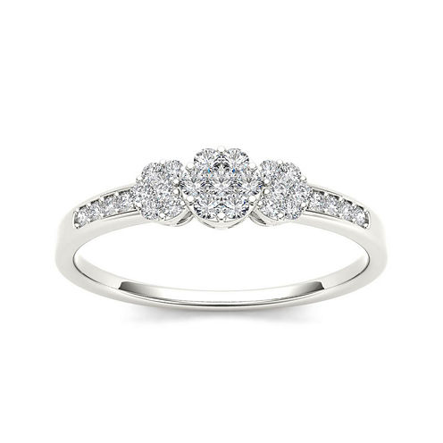 1/5 CT. T.W. Diamond 10K White Gold Engagement Ring