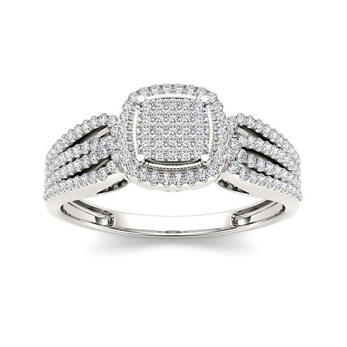 1/3 CT. T.W. Diamond 10K White Gold Engagement Ring