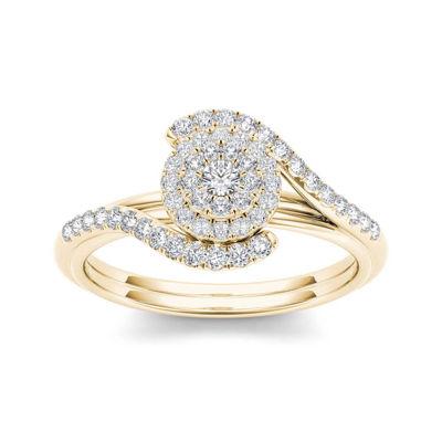 3/8 CT. T.W. Diamond 10K Yellow Gold Engagement Ring