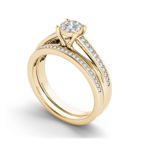 Jcpenney Gift Registry Wedding: 3/8 CT. T.W. Diamond 10K Yellow Gold Bridal Ring Set