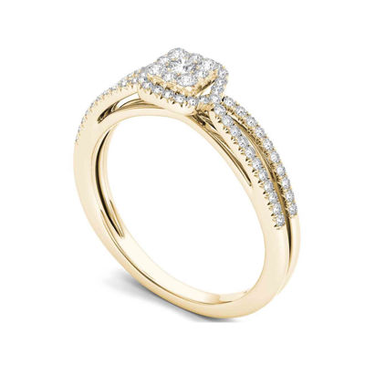 3/8 CT. T.W. Diamond 10K Yellow Gold Engagement Ring