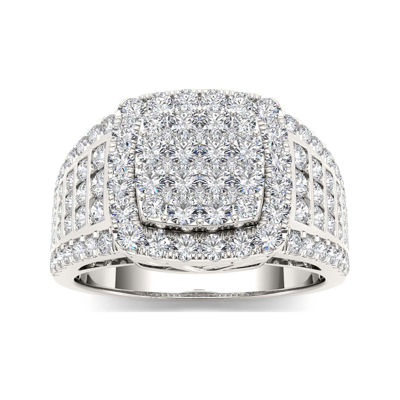 1 1/2 CT. T.W. Diamond 10K White Gold Engagement Ring