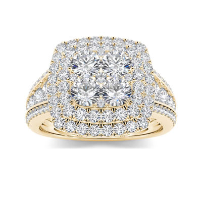1 1/2 CT. T.W. Diamond 10K Yellow Gold Engagement Ring