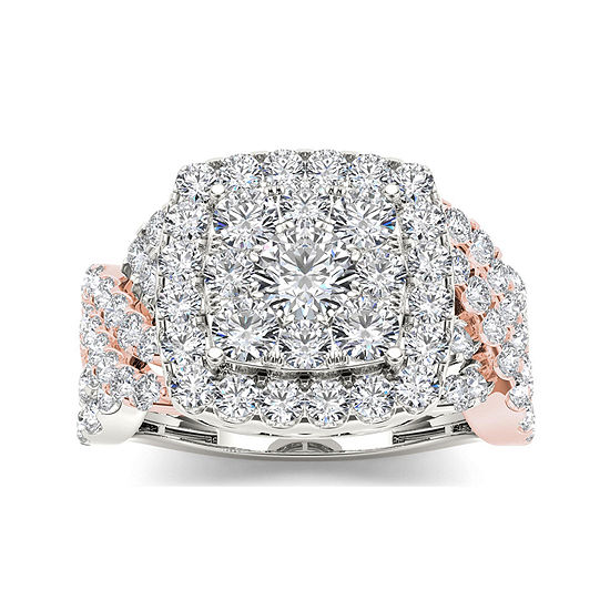 2 Ct Tw Diamond 10k Two Tone Gold Engagement Ring