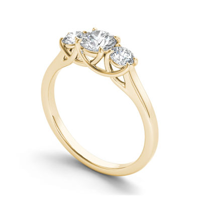 1 1/4 CT. T.W. Diamond 14K Yellow Gold 3-Stone Engagement Ring