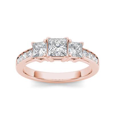 2 CT. T.W. Diamond 14K Rose Gold 3-Stone Engagement Ring