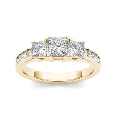 2 CT. T.W. Diamond 14K Yellow Gold 3-Stone Engagement Ring