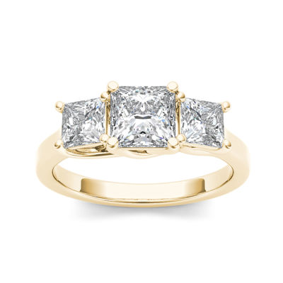 2 CT. T.W. Diamond 14K Yellow Gold 3-Stone Engagement Ring