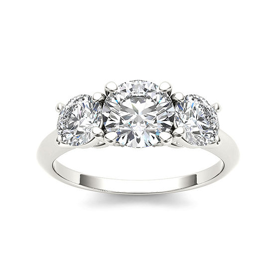 2 CT. T.W. Diamond 14K White Gold 3-Stone Engagement Ring