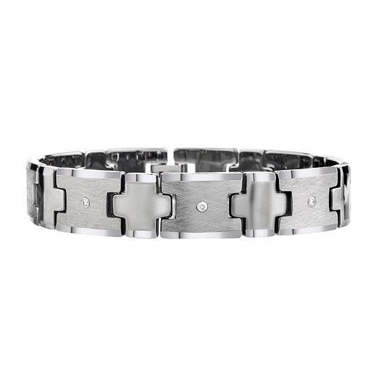 Mens 1 5 Ct Tw Diamond Tungsten Carbide Chain Bracelet
