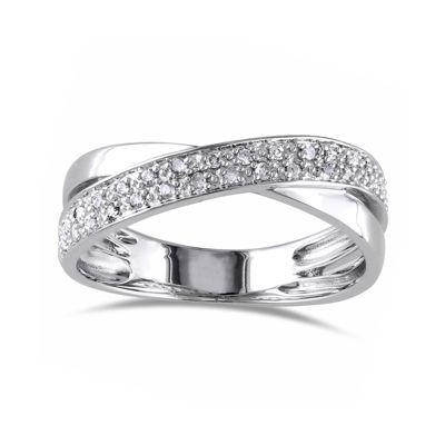 1/6 CT. T.W. Diamond Sterling Silver Criss-Cross Ring