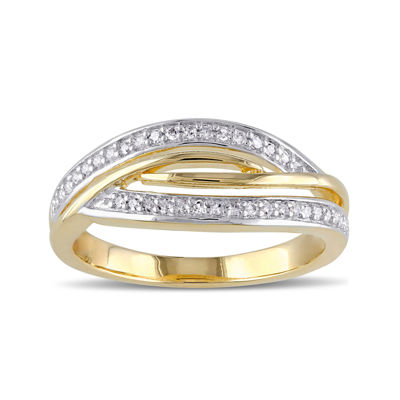 1/7 CT. T.W. Diamond Yellow Gold Over Silver Ring