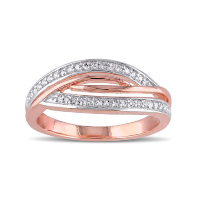 1/7 CT. T.W. Diamond Rose Gold Over Silver Ring