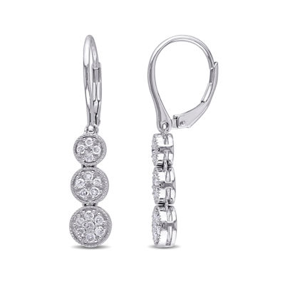 1/4 CT. T.W. Diamond Sterling Silver Earrings