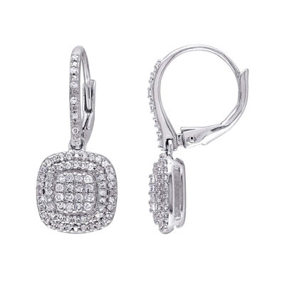 1/2 CT. T.W. Diamond Sterling Silver Earrings
