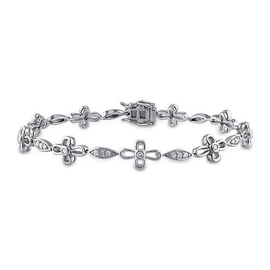 1/2 CT. T.W. Diamond Sterling Silver Bracelet