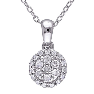 1/4 CT. T.W. Diamond Sterling Silver Pendant