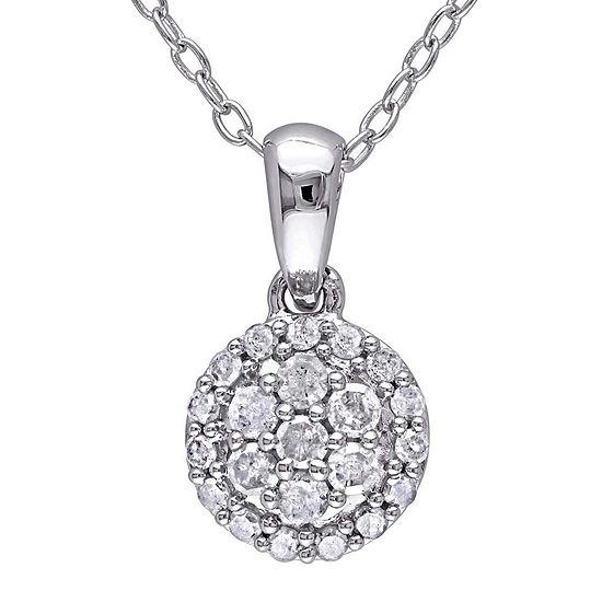 1/4 CT. T.W. Diamond Sterling Silver Pendant